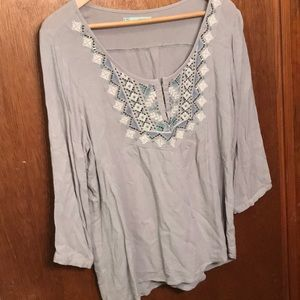 Maurices grey top